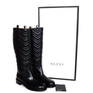 84781ec5edf5 NIB size 42 Gucci black leather riding boots